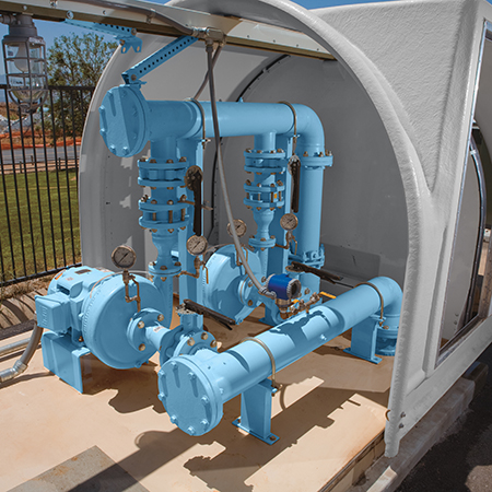 7' x 10' Above Ground Pressure Booster Stations Packaged Pumping Systems